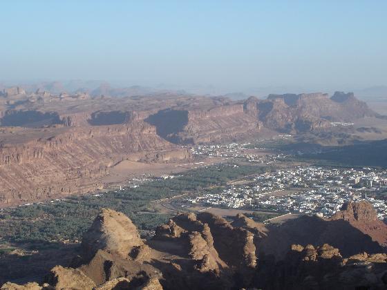oásis na região de Al-Ula