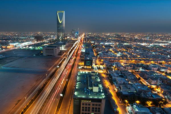 Cidade Riade na Arábia Saudita