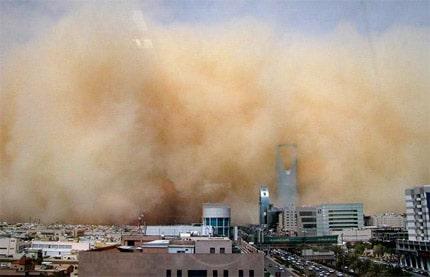 tempestade de areia em Riade
