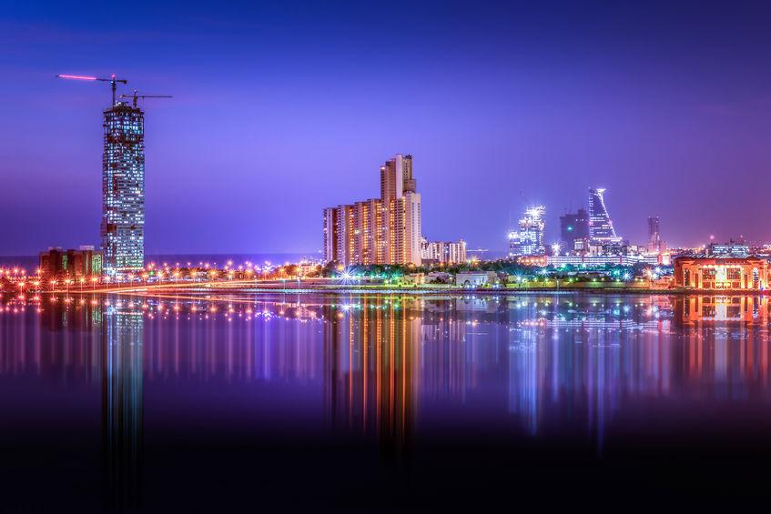 Vista de Jeddah à noite