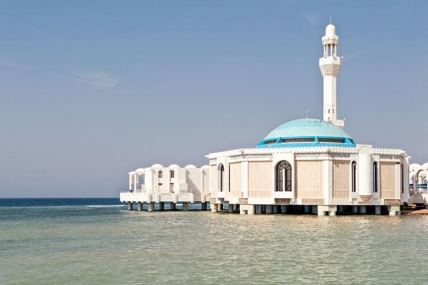 Mesquita flutuante em Jeddah