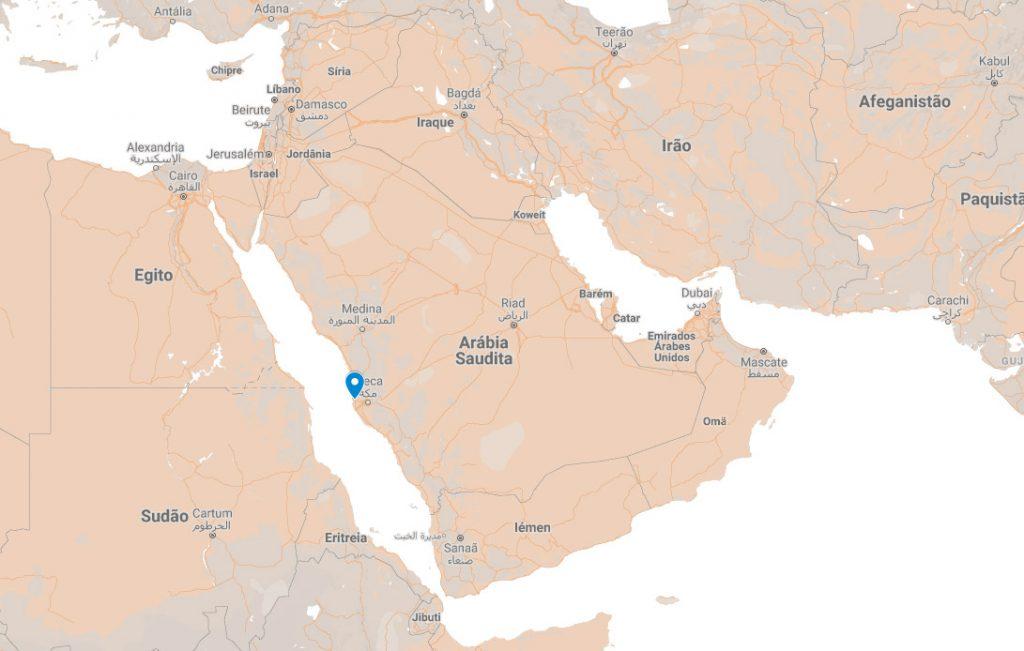 Onde fica Jeddah