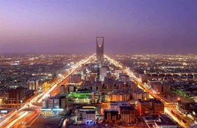 cidade de Riade na Arábia Saudita